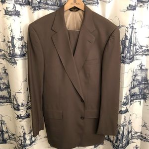 Brooks Brothers Hand Tailored Suit Brown/Olive